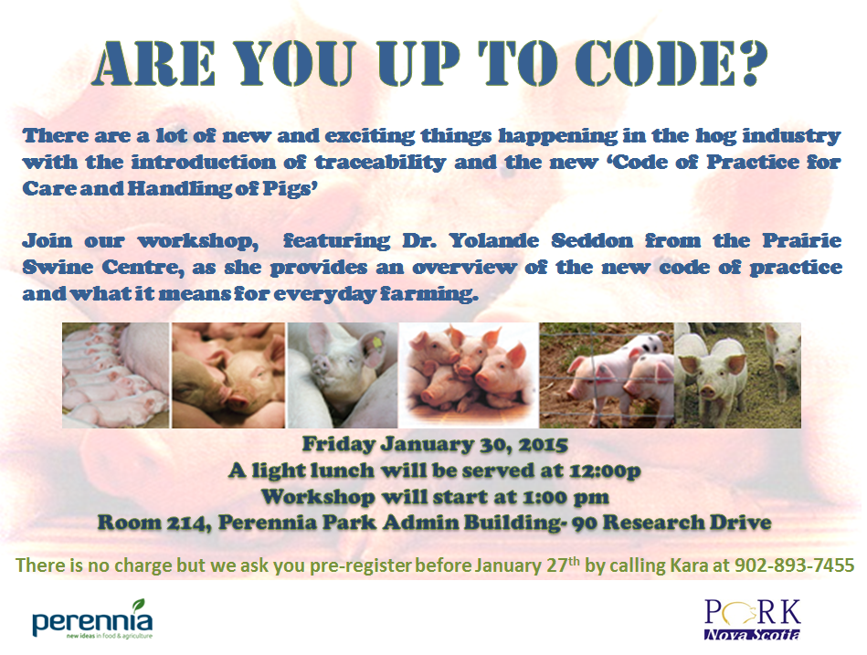 Pig Code of Practice Workshop